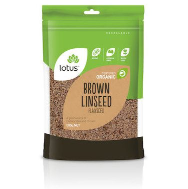 Lotus Linseed (Flaxseed) Brown Organic 500g