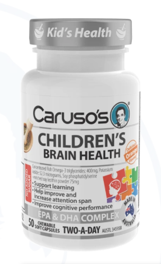 Caruso's Children's Brain Health - 50 Chewable Soft Capsules