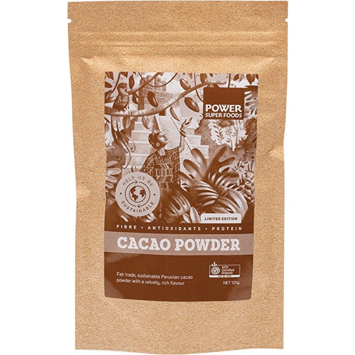Power Super Foods Raw Organic Cacao Powder 125g