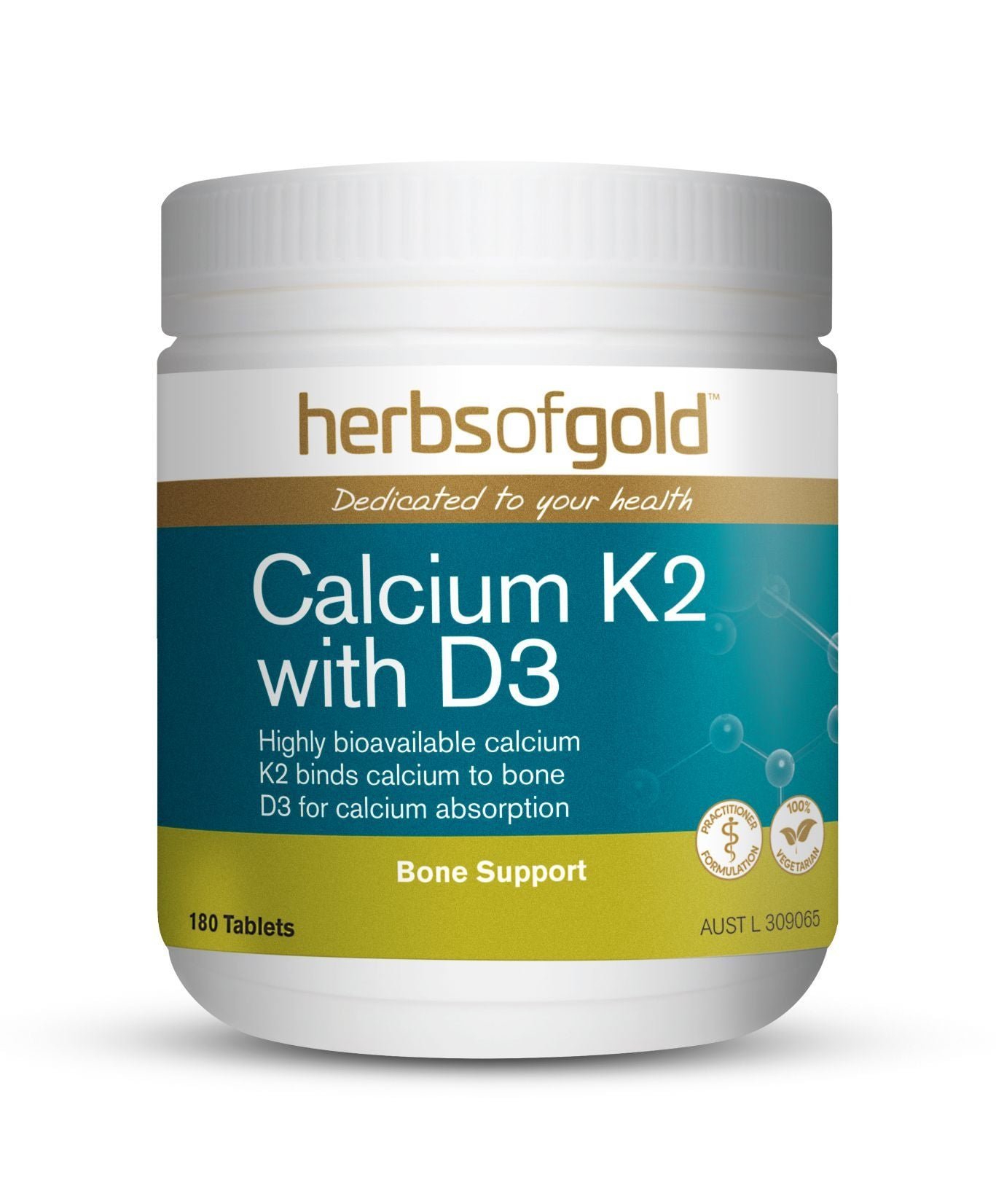 HERBS OF GOLD CALCIUM K2 WITH D3 180T