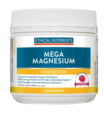 Ethical Nutrients Mega Magnesium Raspberry 200g Powder