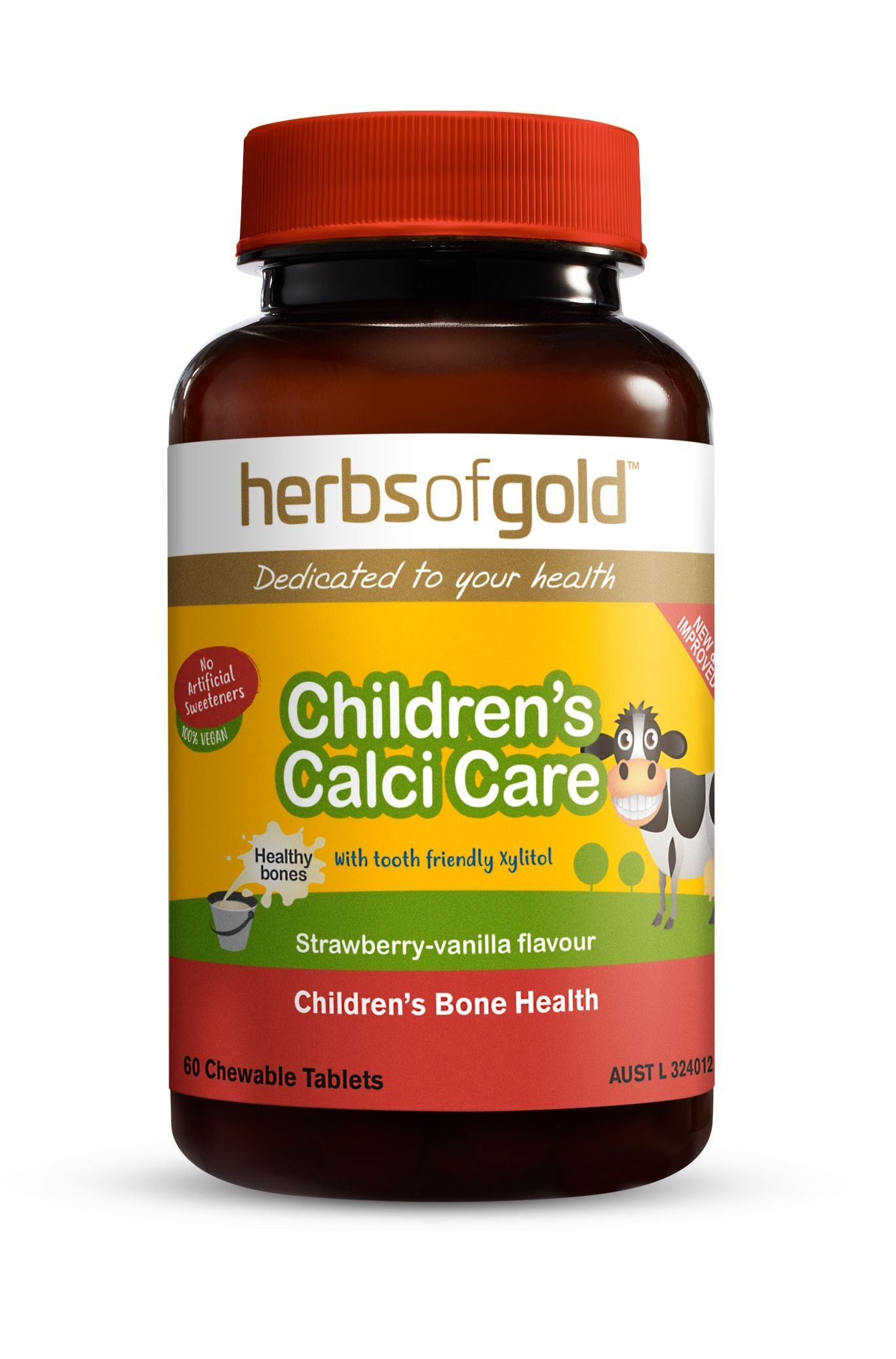 HERBS OF GOLD CHILDREN'S CALCI CARE 60C