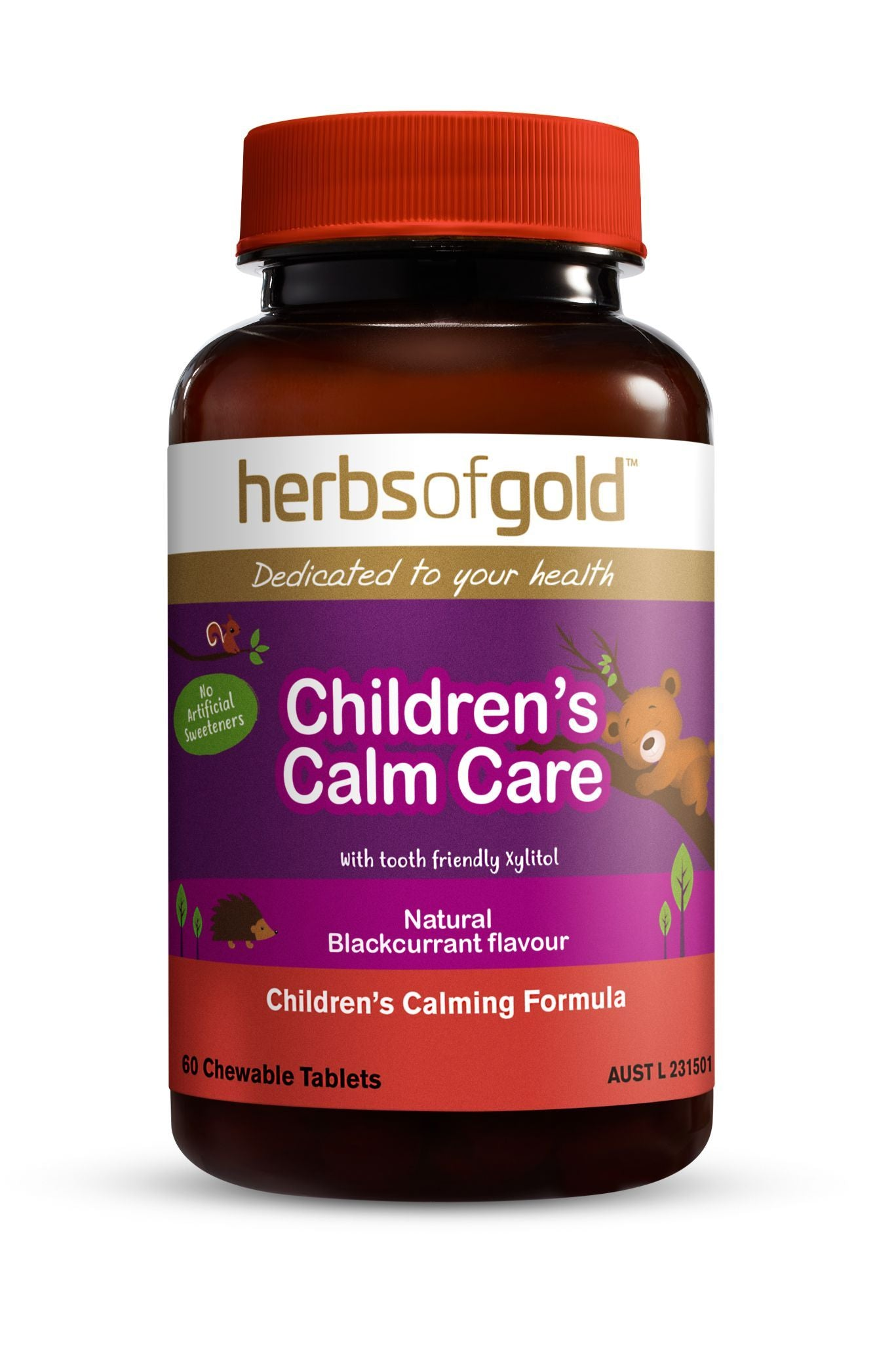 HERBS OF GOLD CHILDRENS CALM CARE 60T