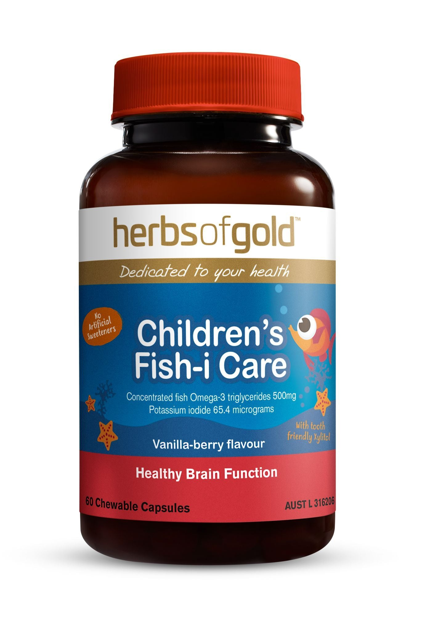 HERBS OF GOLD CHILDRENS FISH-I-CARE 60C