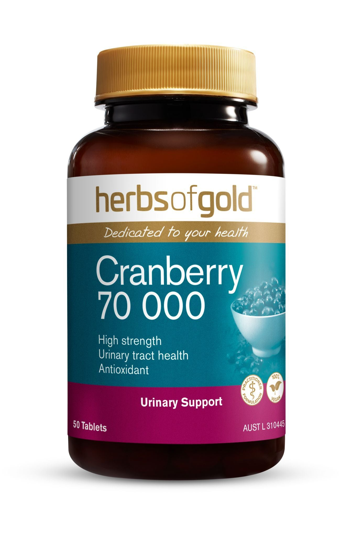 HERBS OF GOLD CRANBERRY 70,000MG 50T