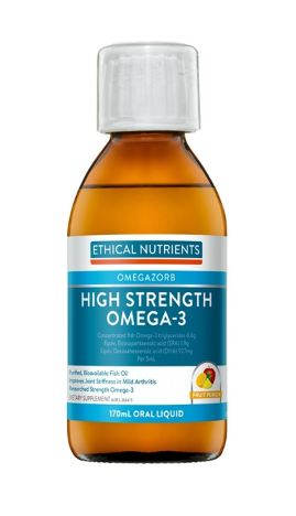 Ethical Nutrients High Strength Omega-3 Fruit Punch Liquid