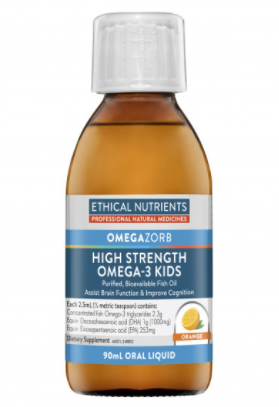 Ethical Nutrients Omegazorb High Strength Omega-3 Kids Orange 90mL