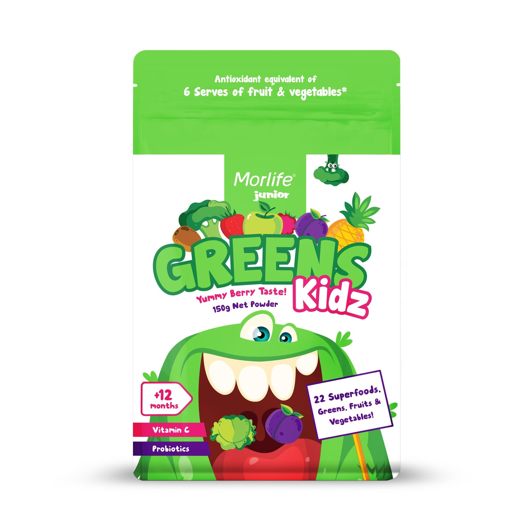 MORLIFE - GREENS KIDZ 150G