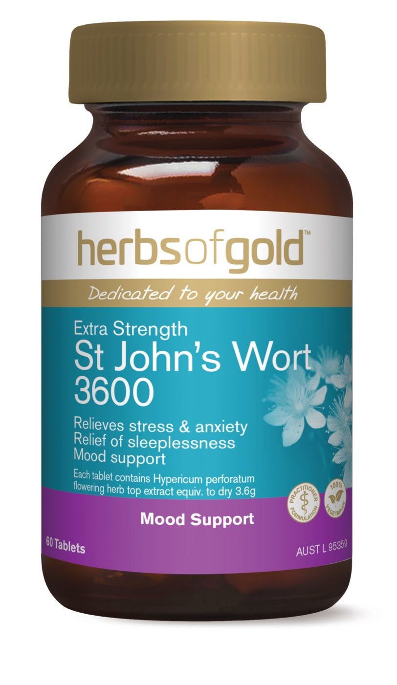 HERBS OF GOLD EXTRA STRENGTH ST JOHNS WORT 60T
