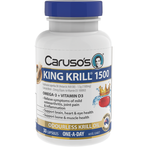 Caruso's King Krill 1500mg - 30 Capsules