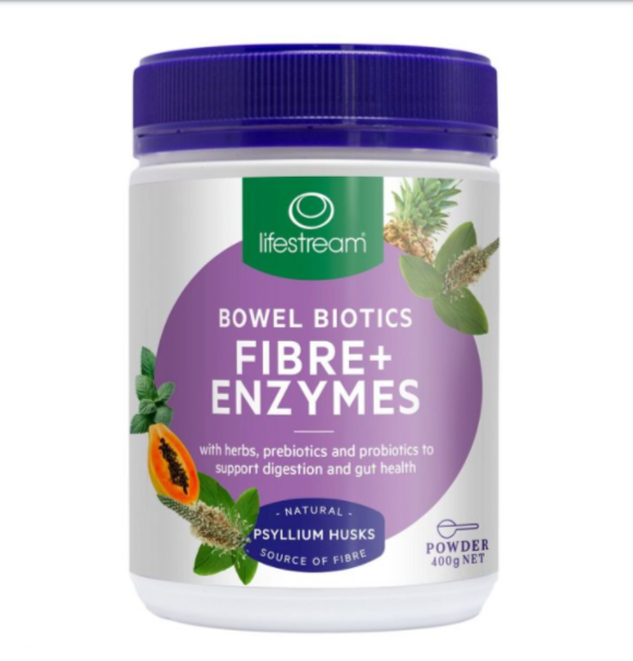 Lifestream Bowel Biotics Fibre + Enzymes 400g