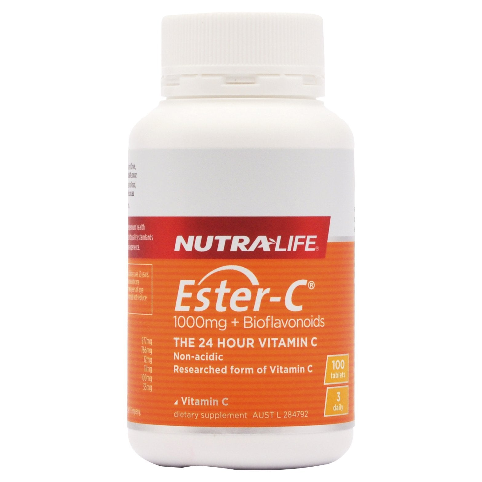 NUTRA-LIFE ESTER-C 1000MG + BIOFLAVONOIDS 100T