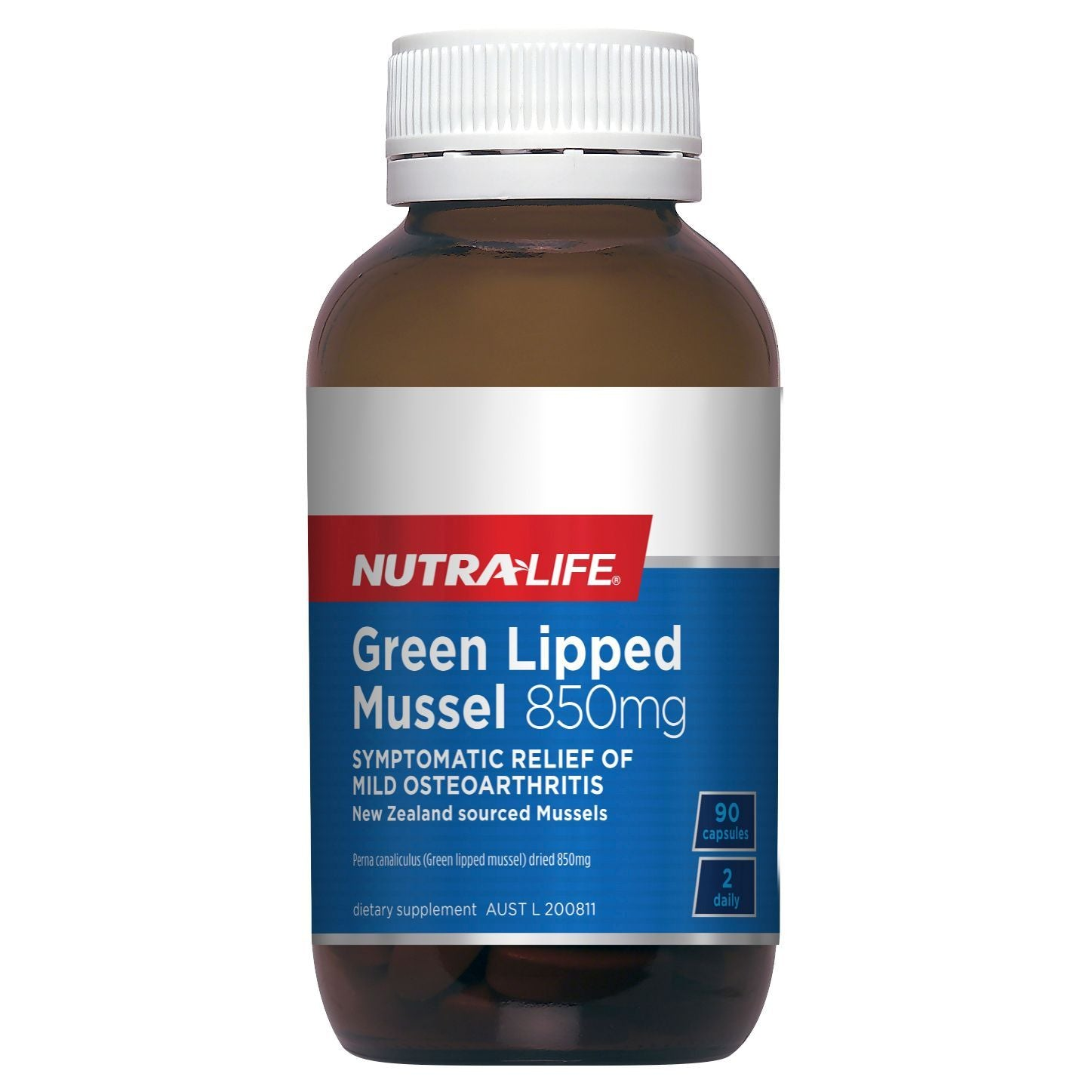 NUTRA-LIFE GREEN LIPPED MUSSEL 850MG 90C