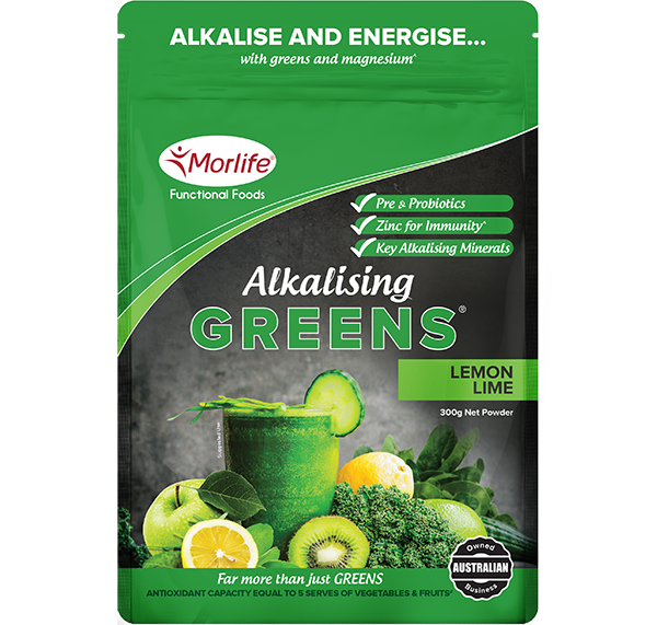 Morlife - Alkalising Greens Lemon Lime 300g