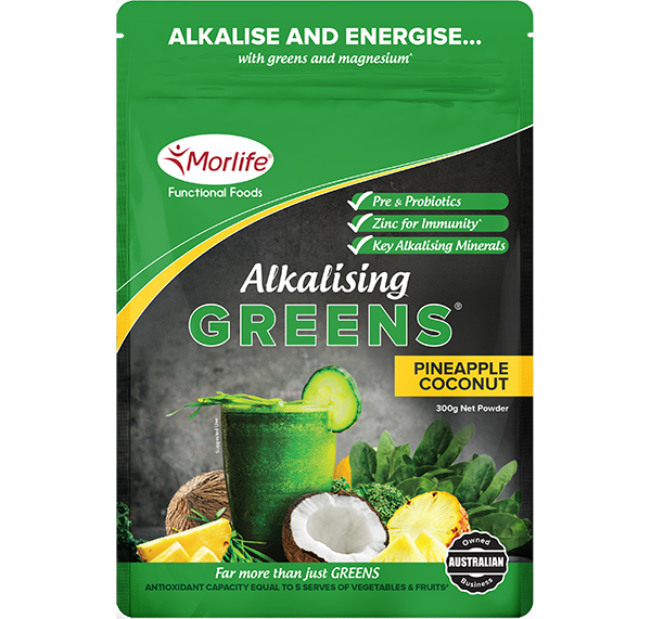 Morlife - Alkalising Greens Pineapple Coconut 300g