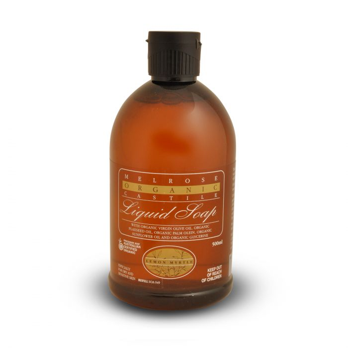Melrose Castile Soap Lemon Myrtle Refill 500ml