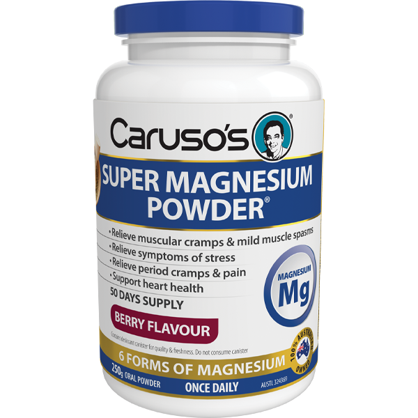 Caruso's Super Magnesium - 250gm Berry Powder