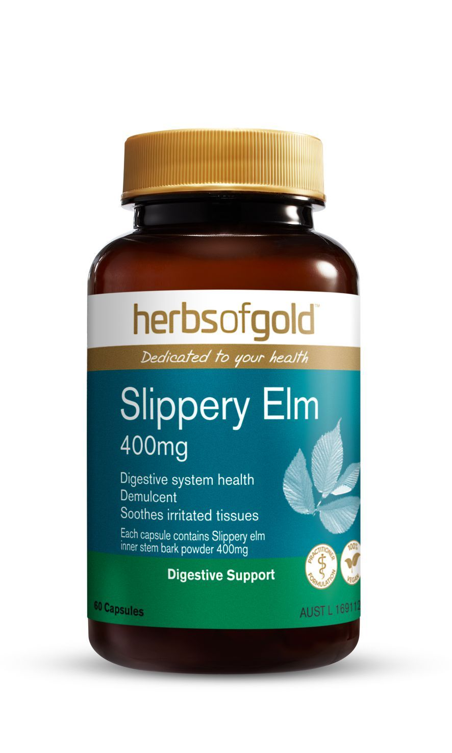 HERBS OF GOLD SLIPPERY ELM 400MG 60VC