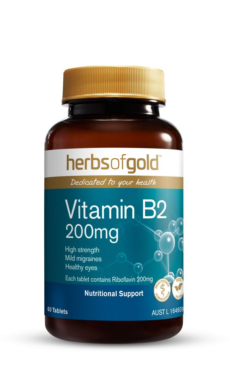 HERBS OF GOLD VITAMIN B2 200MG
