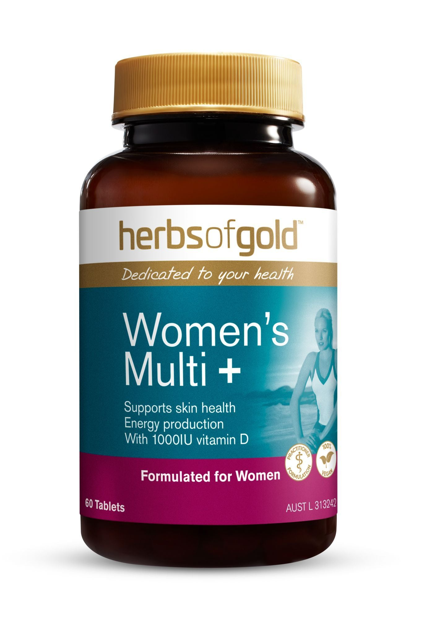 HERBS OF GOLD WOMENS MULTI + 60T