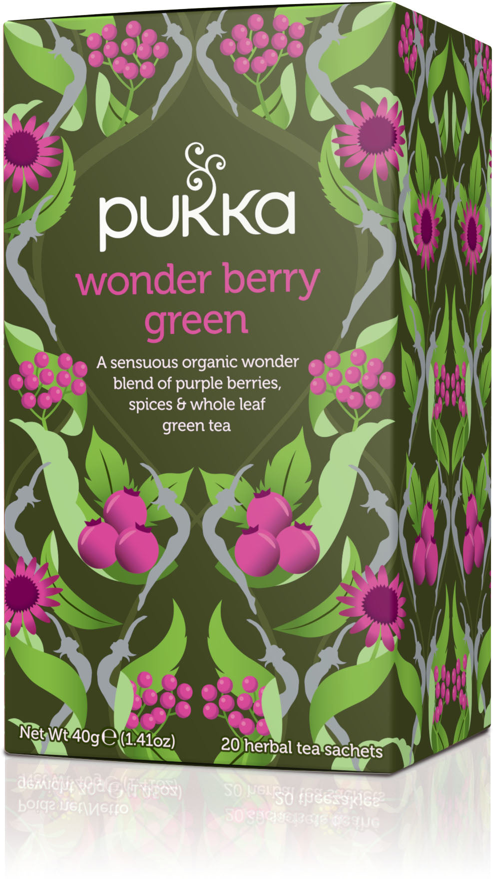 Pukka Organic Tea Wonder Berry Green