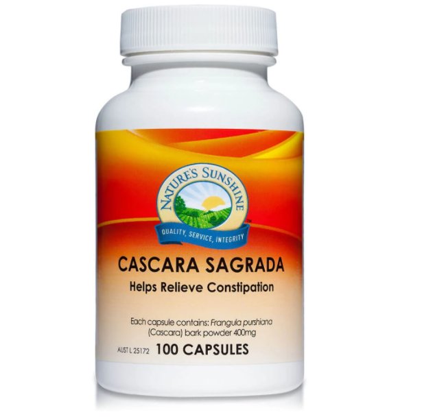 Nature's Sunshine Cascara Sagrada - 100 Capsules