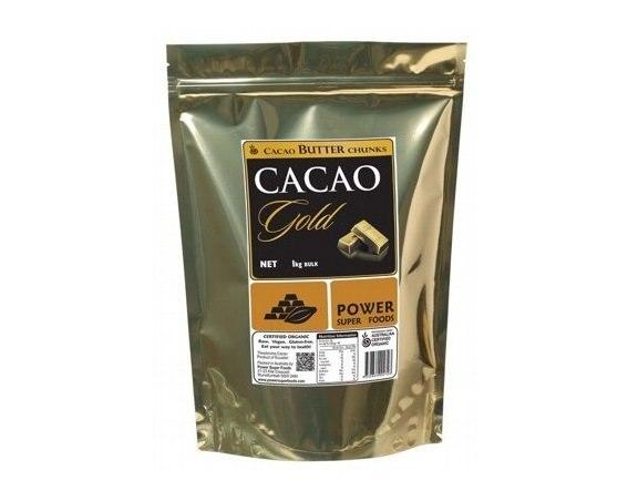 Power Super Foods Raw Organic Cacao Butter 1kg