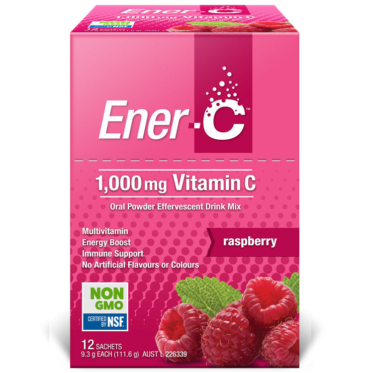 Ener-C Raspberry Effervescent Vitamin Powder 12 Sachets