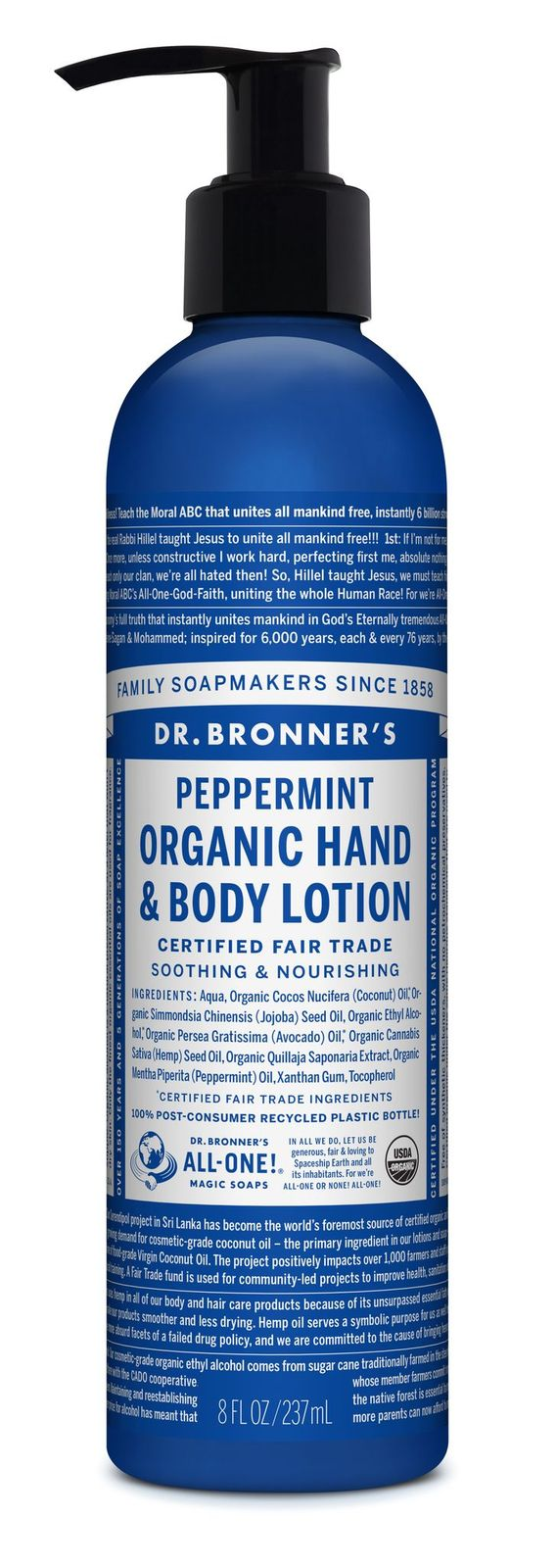 Dr Bronner's Peppermint Organic Hand & Body Lotion