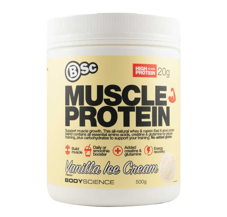 Body Science Build Muscle Protein Vanilla Ice Cream 500g