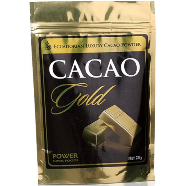 Power Super Foods Luxury Organic Cacao GOLD 225g