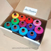 Brights Colours Box - 12 spools of Rasant Thread