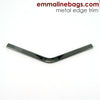 Metal Edge Trim Style 'B' Medium pointed by Emmaline Bags - GUNMETAL