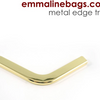 Metal Edge Trim: Style C - Small Pointed in Gold- by Emmaline Bags