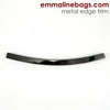 Metal Edge Trim Style 'D' Curved by Emmaline Bags - GUNMETAL