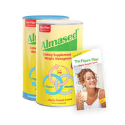best seller 2 cans of almased protein and a healthy eating plan
