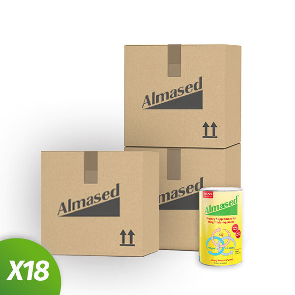 18 Almased Protein Powder 17.6 Oz (6 Cans Per Box)