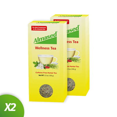 two pack of almased wellnes tea