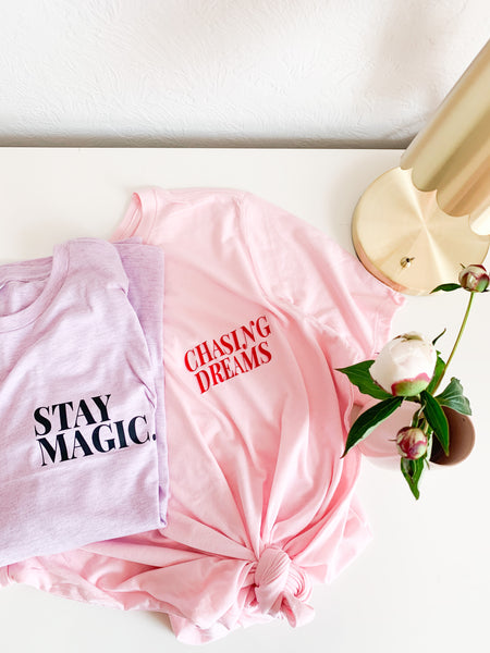 STAY MAGIC Tee - Light Purple