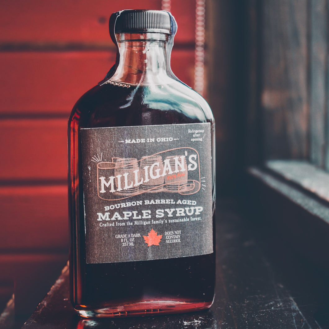 Milligan's Bourbon Barrel-Aged Maple Syrup