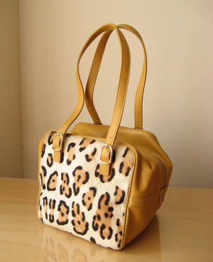 "Du Qualité ""CUBE"" with Fur (Leopard × Mustard)"