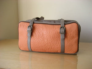 A dual・camera system LONG (sheep leather・salmon pink) favor-POCO|Aging aging