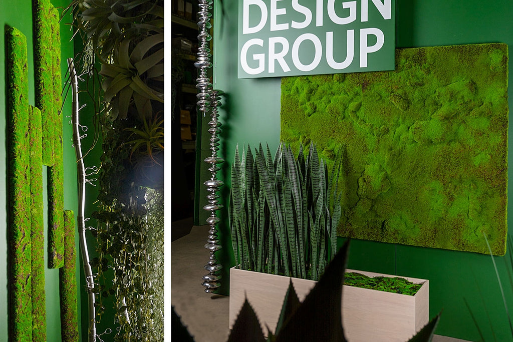 New Moss green walls at Gold Leaf Design Group's 2019 HD Expo space.