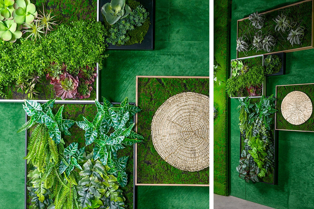Green wall designs at Gold Leaf Design Group's 2019 HD Expo space.