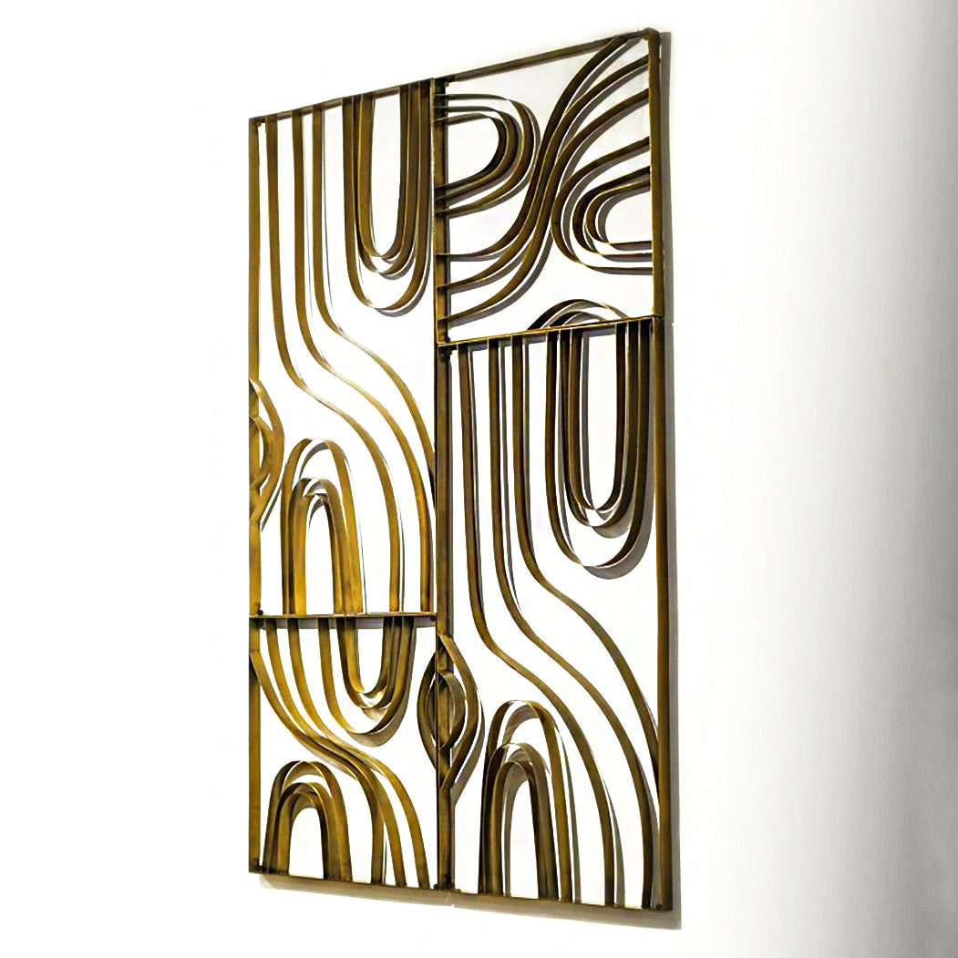 "Metal Wood Grain, 16""SQ"