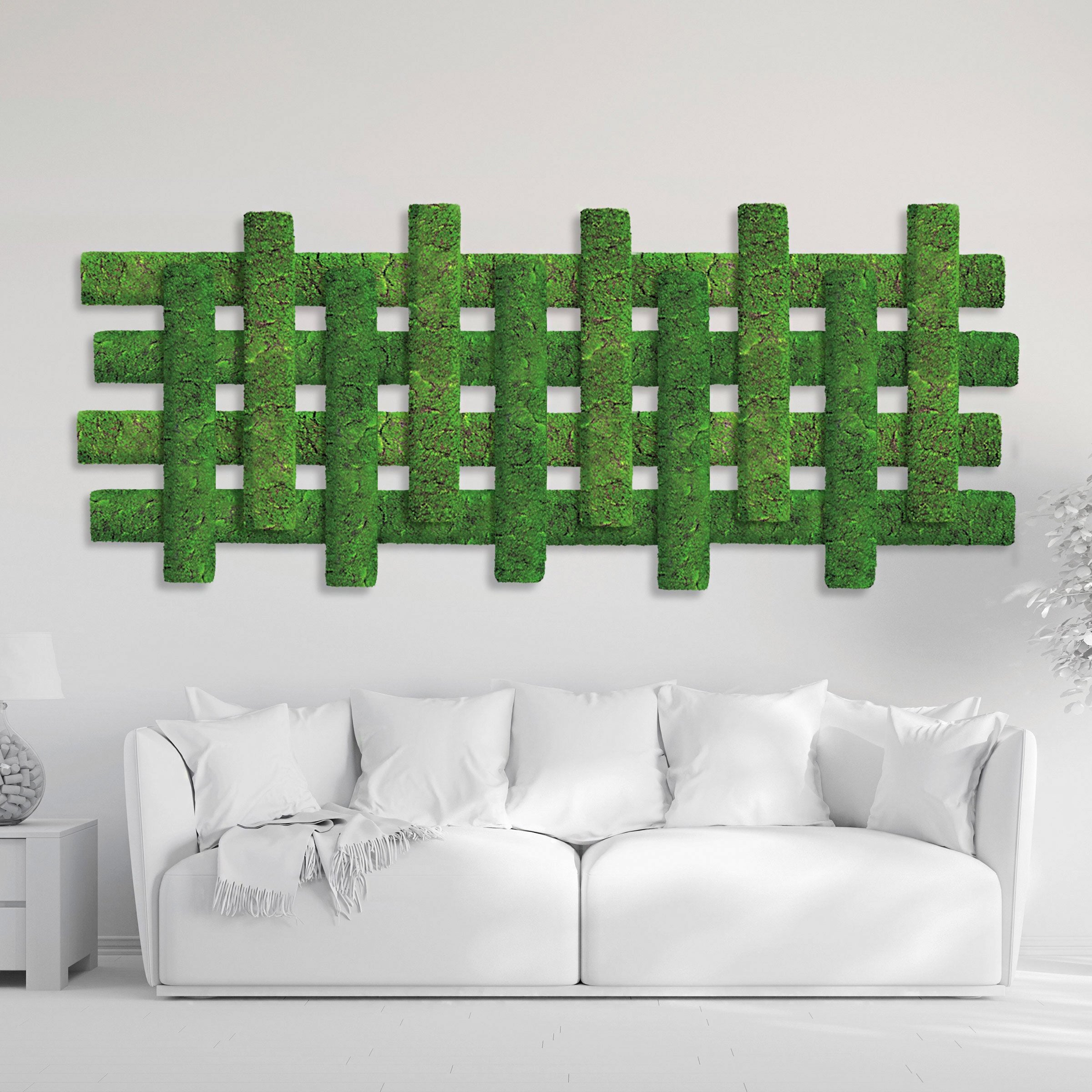 Green Wall Shape, Strips, 'New Moss'