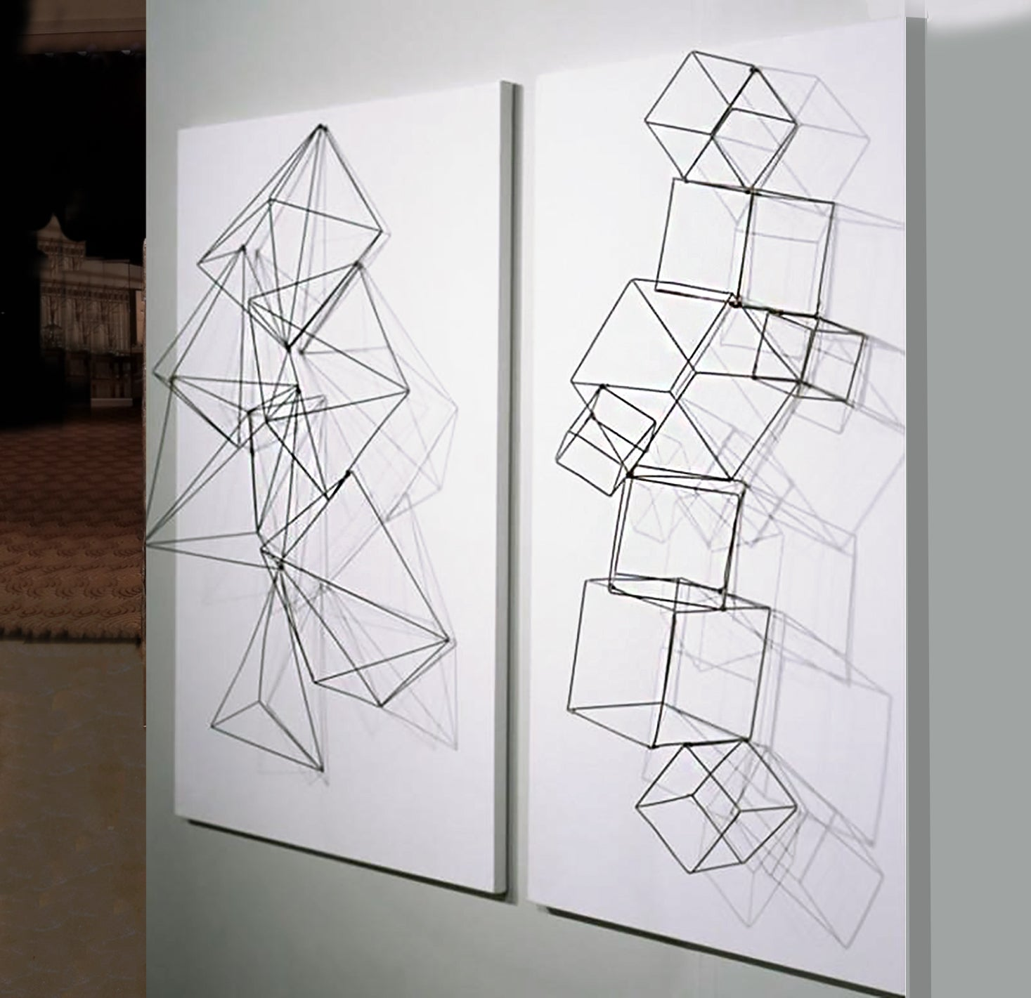 Wire Cubes, Set/ 4
