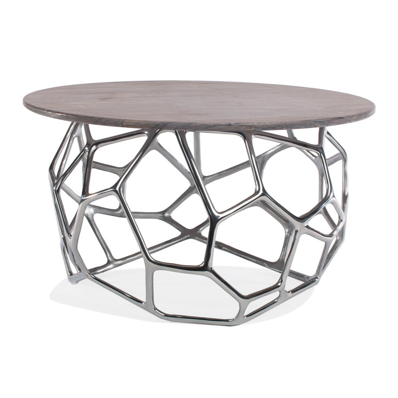 Cell Coffee Table w/ Marble Top