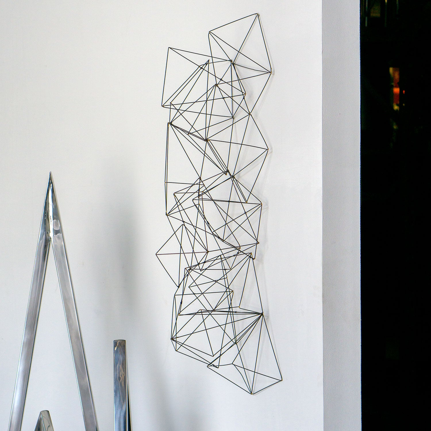 Wire Crystal Sculpture