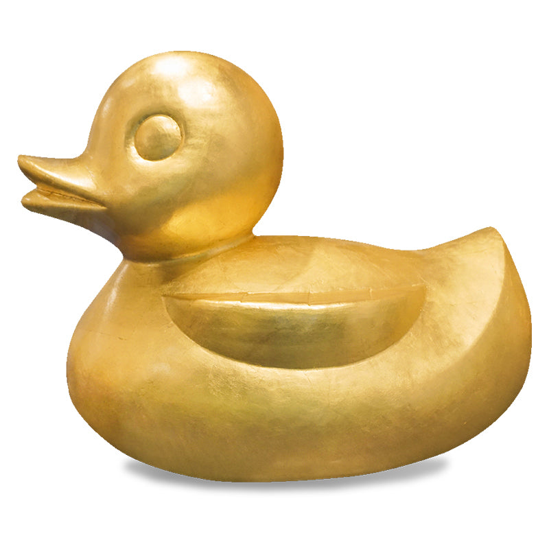 Duck Sculpture, Gold Leaf